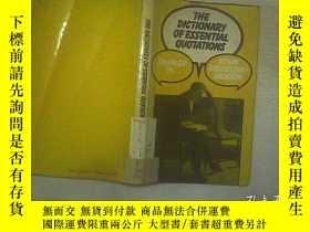 二手書博民逛書店THE罕見DICTIONARY OF ESSENTIAL QUO