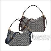 COACH SHAY 金字LOGO雙C印花帆布搭配牛皮拉鍊斜背手提包 (小/兩色)