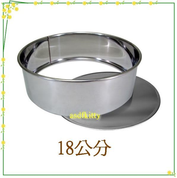 asdfkitty可愛家☆QueenRose日本霜鳥不鏽鋼圓型蛋糕模型-18公分-可活動分離脫模-日本製