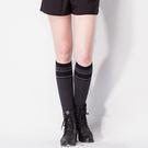 【MORINO】條紋膝上襪【買一送一】