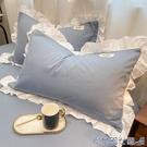 枕頭套 純棉100全棉枕套一對裝高端ins網紅款大號枕芯內膽套雙人枕頭套男 快速出貨
