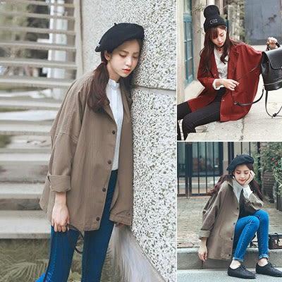 正韓春外套女中長款韓版顯瘦年輕學生寬鬆百搭牛仔風衣原宿風bf潮