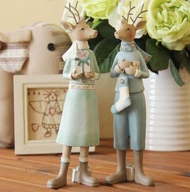 [協貿國際]夫妻鹿擺飾 適合當結婚禮物 (兩個一組)價