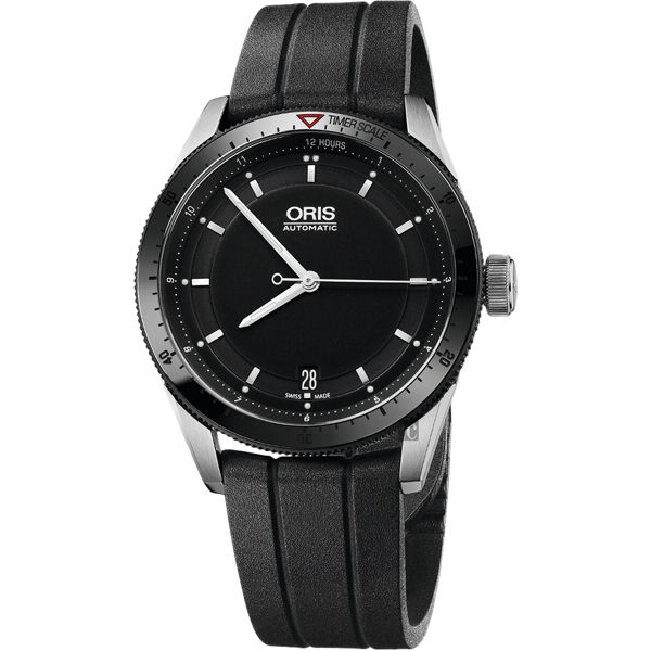 Oris豪利時 Artix GT Day-Date 單向轉圈機械錶-黑x橡膠錶帶/37mm 0173376714434-0741820FC