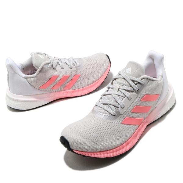 adidas 慢跑鞋 Astrarun W 灰 粉紅 女鞋 Boost 舒適緩震 運動鞋 【ACS】 EH1526