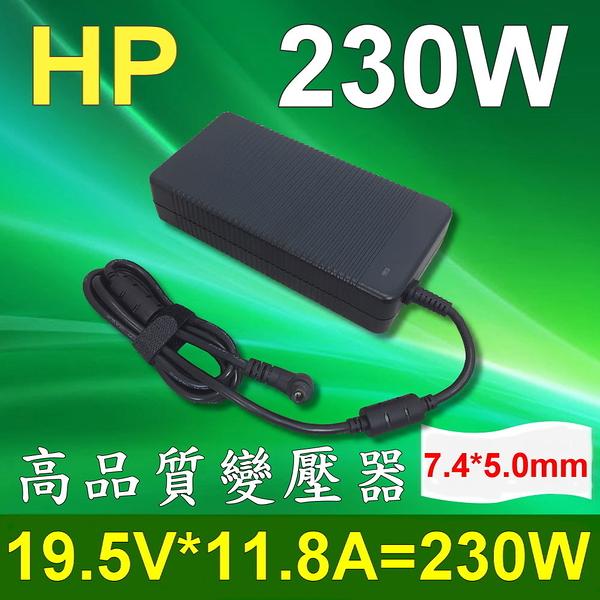 HP 高品質 230W 圓孔針 變壓器Chromebook 14,Pavilion 10,X2,Stream 11 /13 /14,EliteBook 8760W,8770W