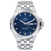 EDOX Delfin 海豚系列 專業200米日曆機械錶-藍x銀/43mm E88005.3M.BUIN