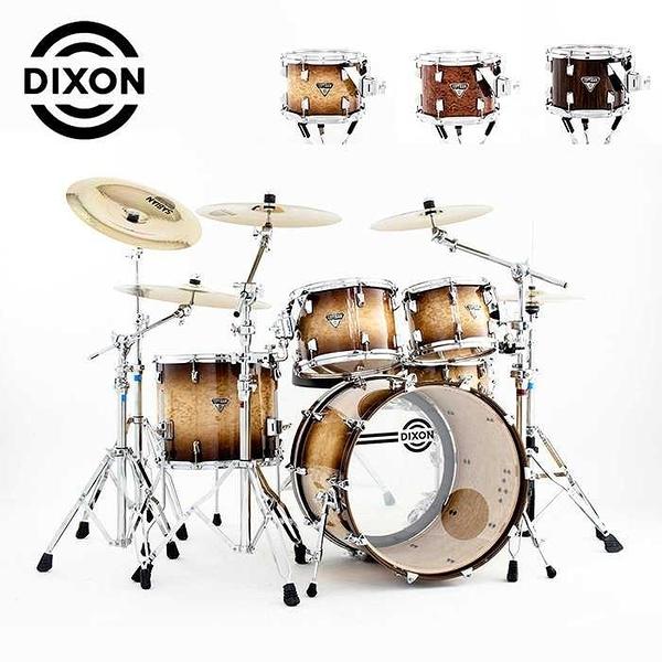 DIXON Artisan Exotic 懸吊式北美楓木爵士鼓組-含支架/銅鈸/鼓椅/踏板/鼓棒