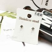 【KP】韓國 不鏽鋼 雨傘 簡約迷你款 可愛風 後轉耳針式耳環 EA01622