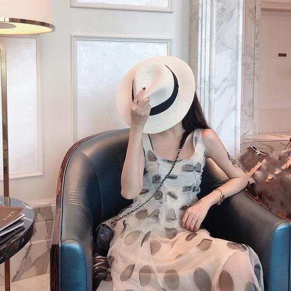 一字肩洋裝 2020年新款早春款法式顯瘦無袖洋裝子收腰性感氣質女神范衣服夏 果果生活館