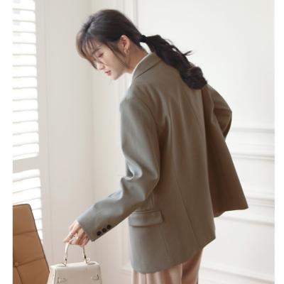 西服外套韓版春裝西裝女小個子高級感三粒扣西裝外套潮980#T238A紅粉佳人