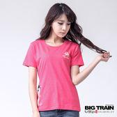 BIG TRAIN 和服小葵圓領TEE-女-粉桃