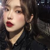 新式百搭爆款耳圈女韓國氣質網紅耳環2020年新款潮圓圈款耳飾圓環 非凡小鋪