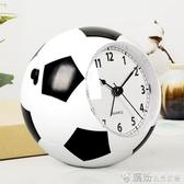 漢時創意兒童鬧鐘學生男靜音床頭鐘卡通可愛個性鬧錶簡約足球HA09 快速出貨