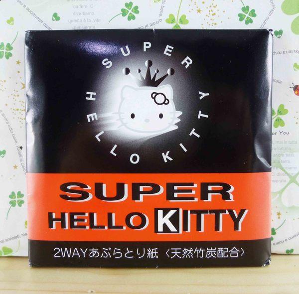 【震撼精品百貨】Hello Kitty 凱蒂貓-KITTY吸油面紙-黑黃冠圖案