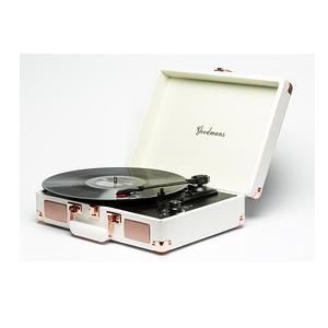 Goodmans Ealing Turntable 英國手提箱黑膠唱片白色