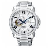 SEIKO Premier 羅馬鏤空設計機械時尚腕錶/銀白/4R39-00S0S/SSA369J1