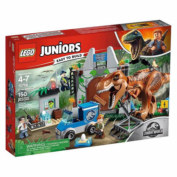 樂高積木LEGO Juniors系列 10758 侏羅紀世界 暴龍突破包圍