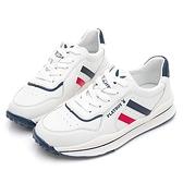 PLAYBOY 休閒率性 經典復古休閒鞋-白藍(Y7301)