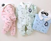 【優選】新生兒衣服嬰兒夾棉連體衣純棉寶寶