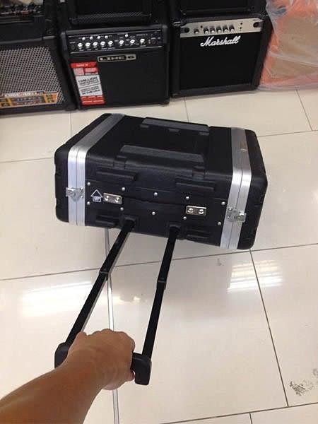 【金聲樂器廣場】專業 3U RACK 瑞克箱 ABS 硬盒 附輪子 手拉桿