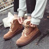YAHOO618◮雪地靴女冬短筒厚底2019新款馬丁靴短靴百搭韓版保暖靴子加絨棉鞋 韓趣優品☌