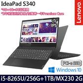 【Lenovo】 IdeaPad S340 81N700U9TW 14吋i5-8265U四核1TB+256G SSD效能MX230獨顯輕薄筆電-特仕版