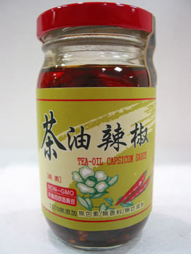 美綠地~茶油辣椒220公克/罐