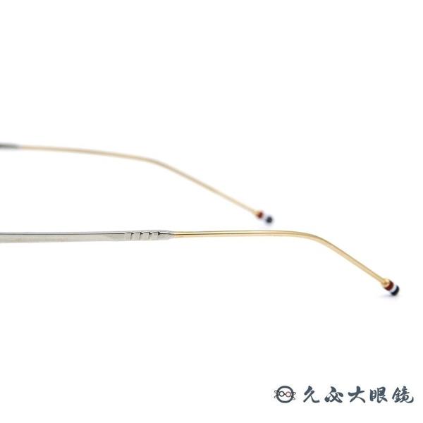 Thom Browne 眼鏡 雙槓 圓框 近視眼鏡 TBX910 銀-金 (49mm/41mm) 久必大眼鏡