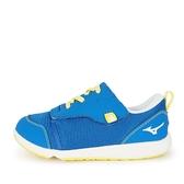 Mizuno Plamore [C1GD213325] 大童鞋 運動 休閒 魔術帶 好穿脫 保護 舒適 透氣 藍