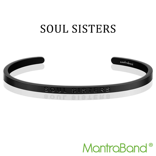 Mantraband | SOUL SISTERS 靈魂姊妹 - 悄悄話霧面黑手環 台灣官方總代理