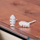 925純銀耳環 ATeenPOP 抗過敏耳環 小魚耳環 魚骨頭
