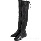 Stuart Weitzman LOWLAND 抽繩小羊皮過膝長靴(黑色) 1530375-01