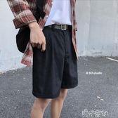 短褲男夏季薄款五分褲休閒寬鬆大褲衩bf學生港風5分直筒網紅 港仔會社