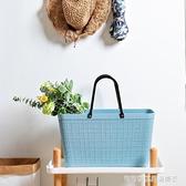 時尚環保手提野餐籃子家用塑料大號買菜籃子ins購物籃野餐籃包女