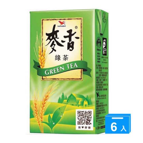 統一麥香綠茶250ML*6入【愛買】