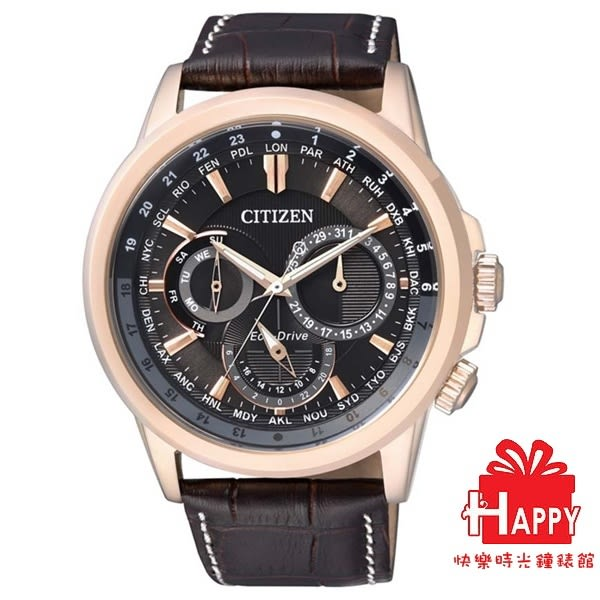 CITIZEN星辰Eco-Drive奢華低調光動能腕錶   BU2023-12E 皮帶