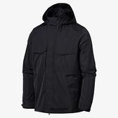 NIKE 外套 NSW M65 黑 刺繡 小LOGO 風衣 連帽 可收納 休閒 男 (布魯克林) CZ9880-010