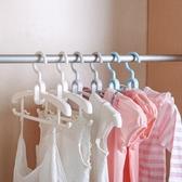 兒童衣架家用嬰兒寶寶晾衣服襪子掛架多功能伸縮防滑無痕小衣撐子