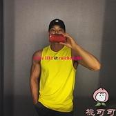 健身無袖背心男速干運動夏季修身t恤肌肉兄弟籃球訓練衣服【桃可可服飾】