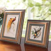美式相框擺台十寸挂牆加洗照片衝印六實木複古像框架相框挂牆