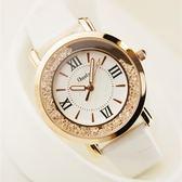 手錶女士學生時尚潮流韓版簡約休閒大氣時裝錶水鉆皮帶防水石英錶 好康8折鉅惠