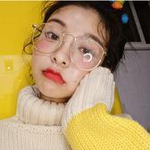 金邊斯文敗類眼鏡框女韓版潮復古原宿素顏神器鏡架 歐亞時尚