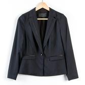 【MASTINA】修身收腰短版西裝外套-黑 秋冬嚴選