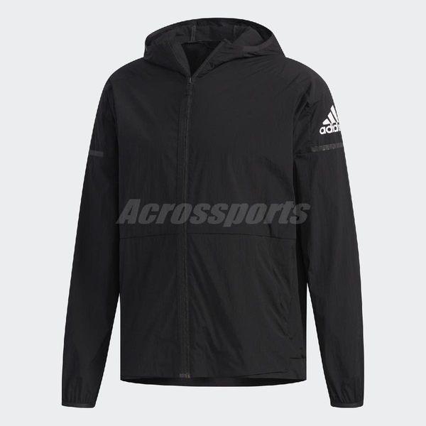 adidas 連帽外套 WB Light Jacket 黑 白 男款 運動夾克 【PUMP306】 FI8759