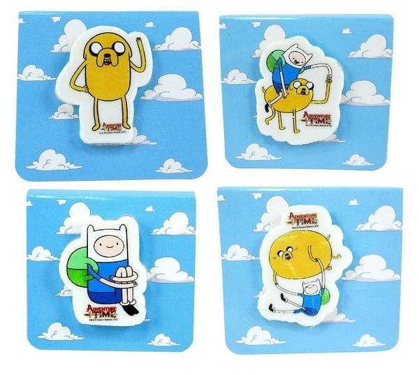 【卡漫城】探險活寶 橡皮擦 ㊣版 台灣製 Adventure Time 老皮 阿寶 擦子 擦布 四個一組
