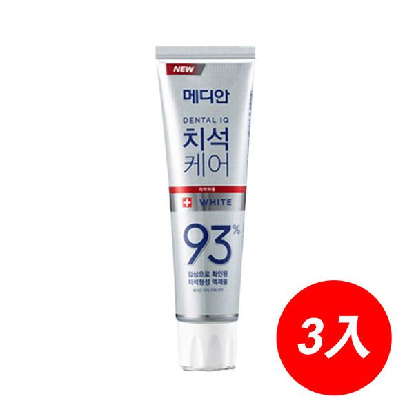 Median 93%強效淨白去垢牙膏#白(淨白)120g*3入