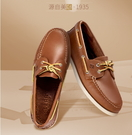 SPERRY/透氣舒適繫带低筒皮鞋 商務...