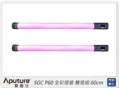 預購~APUTURE 愛圖仕 SGC P60 全彩燈管 雙燈組(SGCP60,公司貨)