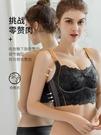 內衣女大胸顯小文胸罩薄款無鋼圈大碼內衣女防下垂收副乳調整型夏 晶彩【寶貝】